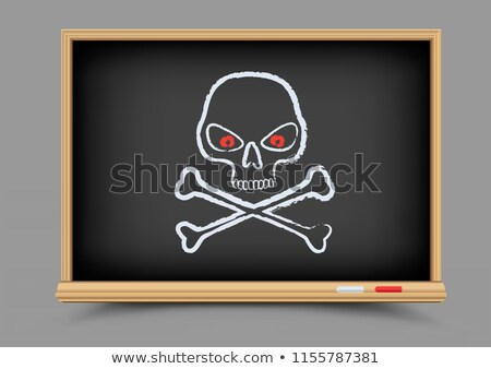 blackboard skull pirate lesson Stock photo © romvo