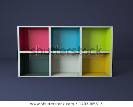 Witte show geval 3D Stockfoto © user_11870380