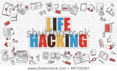 Life Hacking in Multicolor. Doodle Design. Stock photo © tashatuvango