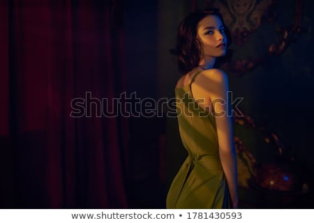 Lenyűgöző szépség pózol nap szexi ajkak Stock fotó © konradbak