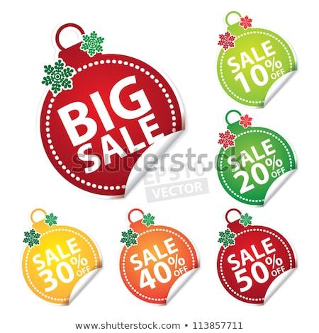 Рождества продажи сообщение набор красный розовый Сток-фото © romvo