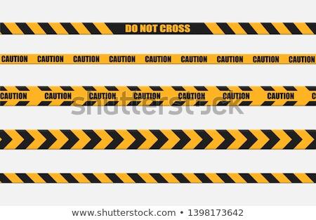 Yellow Police Line Barrier Tape Stock photo © njnightsky