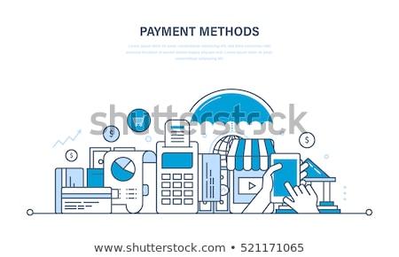 online payment concept with doodle design icons stock photo © tashatuvango