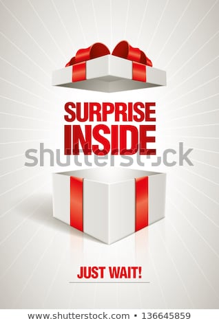 poster with gift box stock photo © cammep