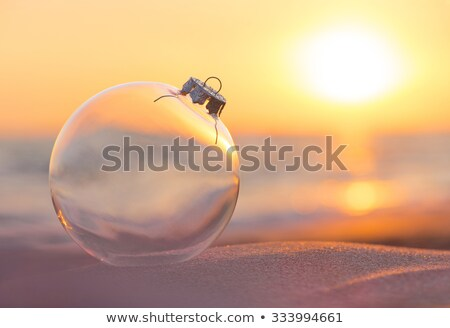 sunset in glass shpere on the beach Stock photo © compuinfoto