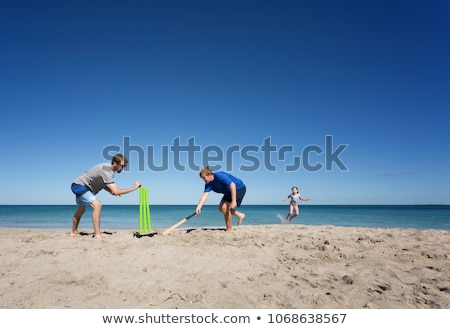 People playing Cricket on a beach Stock photo © IS2