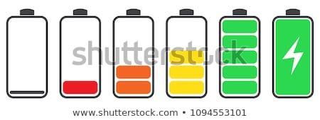 groene · energie · batterij · cel · geïsoleerd · witte · achtergrond - stockfoto © oakozhan