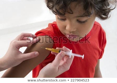 çocuk erkek korkmuş aşı örnek küçük Stok fotoğraf © lenm