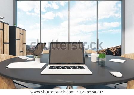 ноутбука конференц-зал 3D посадка Сток-фото © tashatuvango