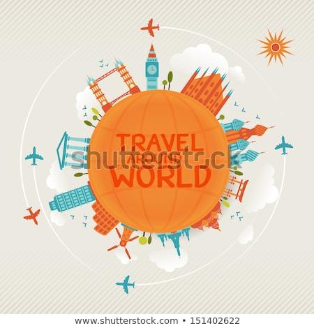 turista · em · torno · de · mundo · globo · viajar · país - foto stock © get4net