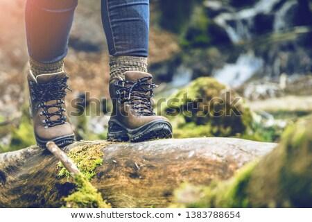 Stok fotoğraf: Iş · kadını · yürüyüş · çamurlu · çiftlik · tarım · evrak · çantası