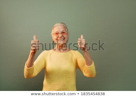 Senior Lady Wearing Pullover Stock photo © IS2