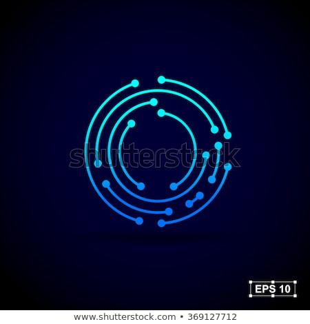 Technologii streszczenie kropka kółko związku projektu Zdjęcia stock © designleo