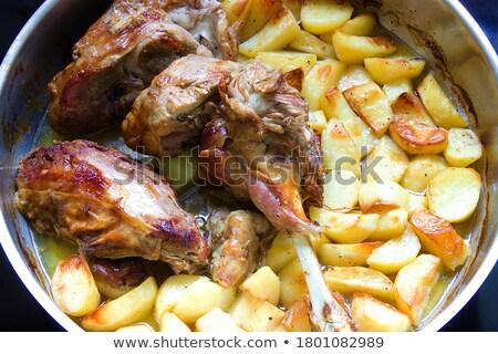Pezzo agnello pronto cotto alimentare carne Foto d'archivio © IS2