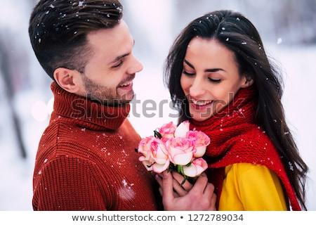 kırmızı · çiçek · el · yapımı · suluboya - stok fotoğraf © traimak