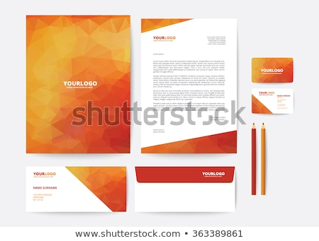 бизнеса листовка презентация шаблон дизайна оранжевый Сток-фото © SArts