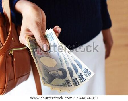 Yen kulcsok siker számítógép billentyűzet piros pénz Stock fotó © paviem