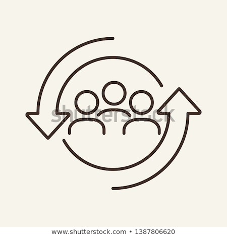 hr icons line concept stock photo © genestro