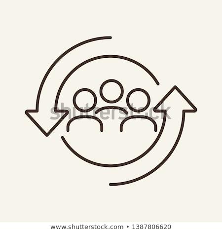 hr icons line concept Stock photo © Genestro
