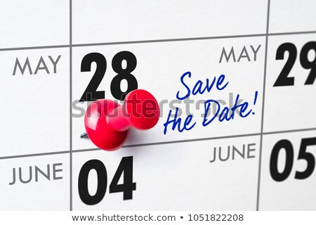 Wall calendar with a red pin - May 28 Stock photo © Zerbor
