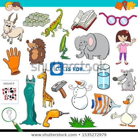 English words starting with the letter G Stock photo © bluering