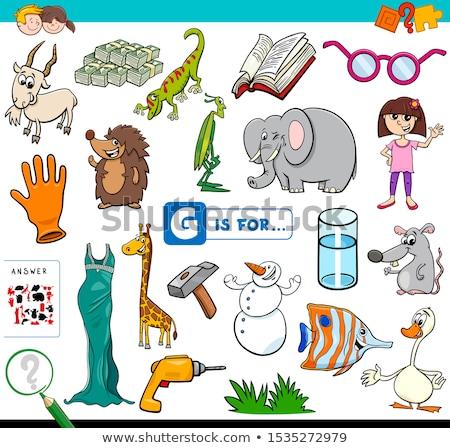 Angol szavak g betű textúra oktatás levél Stock fotó © bluering