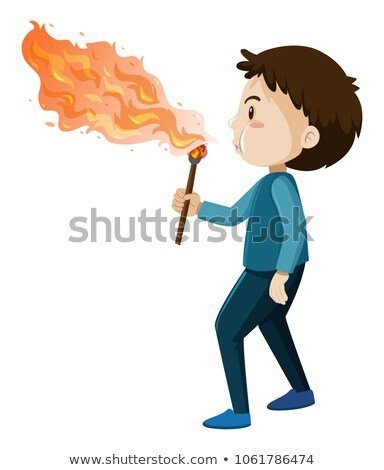 A Fire Blower on White Background Stock photo © bluering