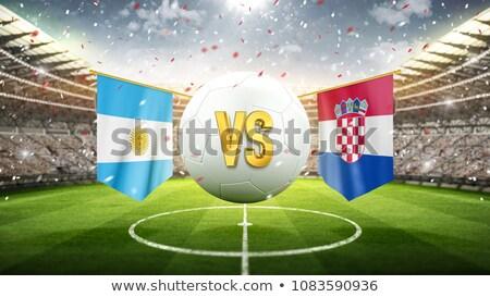 Futebol combinar Argentina vs Croácia futebol Foto stock © Zerbor