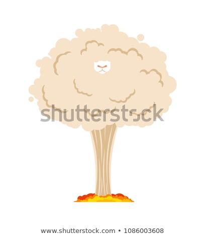 овец ядерной взрыв бумаги фон Сток-фото © MaryValery