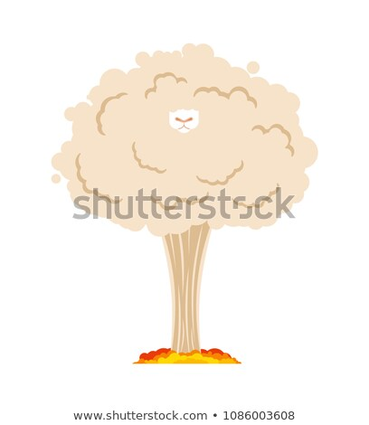 Sheep nuclear explosion. Farm animal. Vector illustration Stock photo © MaryValery