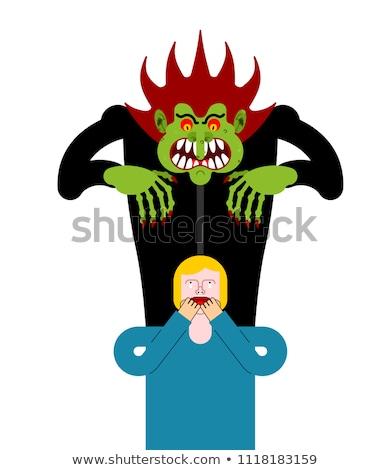 ужас · страхом · рук · испуганный · лице · Поп-арт - Сток-фото © popaukropa
