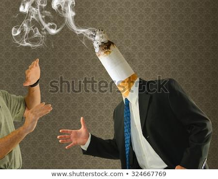 a man having chronic obstructive pulmonary disease stock photo © bluering