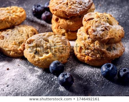 Сток-фото: шоколадом · чипа · черника · Cookies · металл