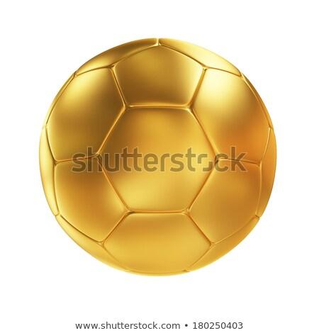 Voetbal gouden trofee beker 3d render donkere Stockfoto © fresh_7135215