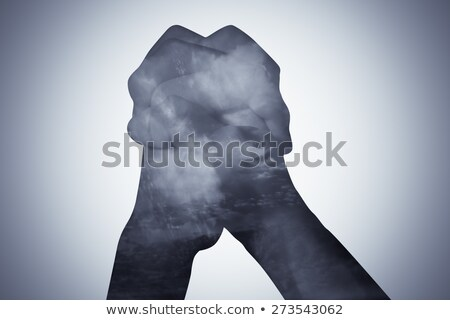 Double Exposure Healing Hand Stock photo © lenm