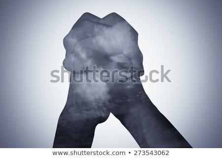 Verdubbelen blootstelling genezing hand illustratie kleurrijk Stockfoto © lenm