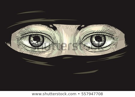 Eye Muslim Niqab Cross Hatching Stock photo © lenm
