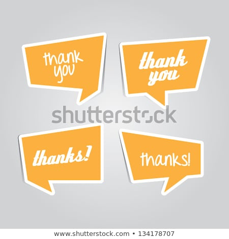abstract white empty origami chat bubble Stock photo © SArts