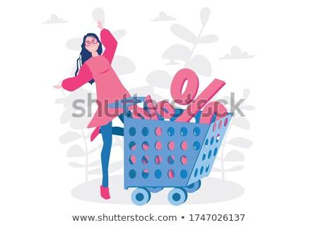 Finale vente affiche fille silhouette affaires Photo stock © SelenaMay