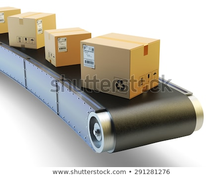 conveyor on white background isolated 3d illustration stock photo © iserg