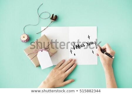 Sevmek dizayn mektup baskı Retro Stok fotoğraf © SelenaMay