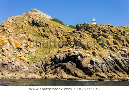 Islas Cies islands lighthouse Faro Cies in Vigo Stock photo © lunamarina