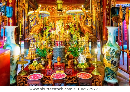 Tempel Vietnam detail interieur architectuur vintage Stockfoto © boggy