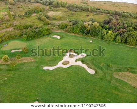 Aerial picture from a golf place in Hungary near the Lake Balaton Stock photo © digoarpi
