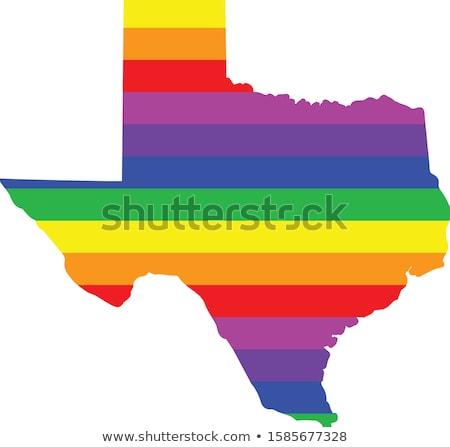 Cartoon Texas ilustracja uśmiechnięty tęczy Zdjęcia stock © cthoman
