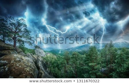 Tornádó tájkép jelenet illusztráció égbolt absztrakt Stock fotó © bluering