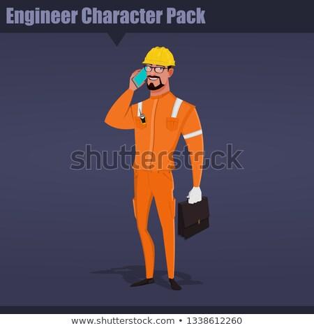 builder engineer phone calling on construction stock photo © jossdiim