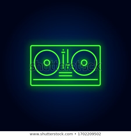 Stock photo: DJ Mixer Neon Sign