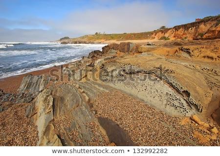 Kő bab üreges tengerpart Kalifornia USA Stock fotó © yhelfman