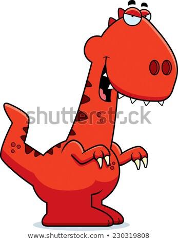 хитрый Cartoon иллюстрация динозавр улыбаясь зла Сток-фото © cthoman